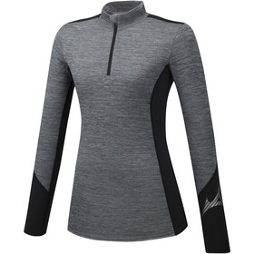 Mizuno Virtual Body G2 Half-Zip Longsleeve Women heathergrey/black